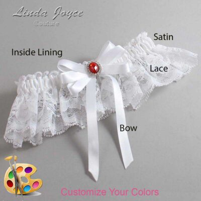 Couture Garters / Custom Wedding Garter / Customizable Wedding Garters / Personalized Wedding Garters / Roxanne #10-B12-M26 / Wedding Garters / Bridal Garter / Prom Garter / Linda Joyce Couture