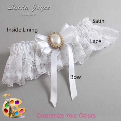Customizable Wedding Garter / Velma #10-B12-M28-Gold