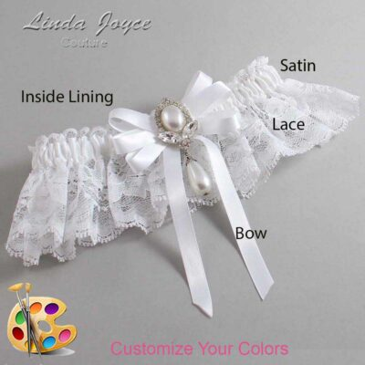 Couture Garters / Custom Wedding Garter / Customizable Wedding Garters / Personalized Wedding Garters / Patsy #10-B12-M32 / Wedding Garters / Bridal Garter / Prom Garter / Linda Joyce Couture