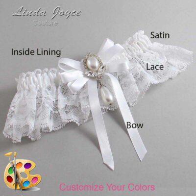Couture Garters / Custom Wedding Garter / Customizable Wedding Garters / Personalized Wedding Garters / Patsy #10-B12-M32 / Wedding Garters / Bridal Garter / Prom Garter / Linda Joyce Couture
