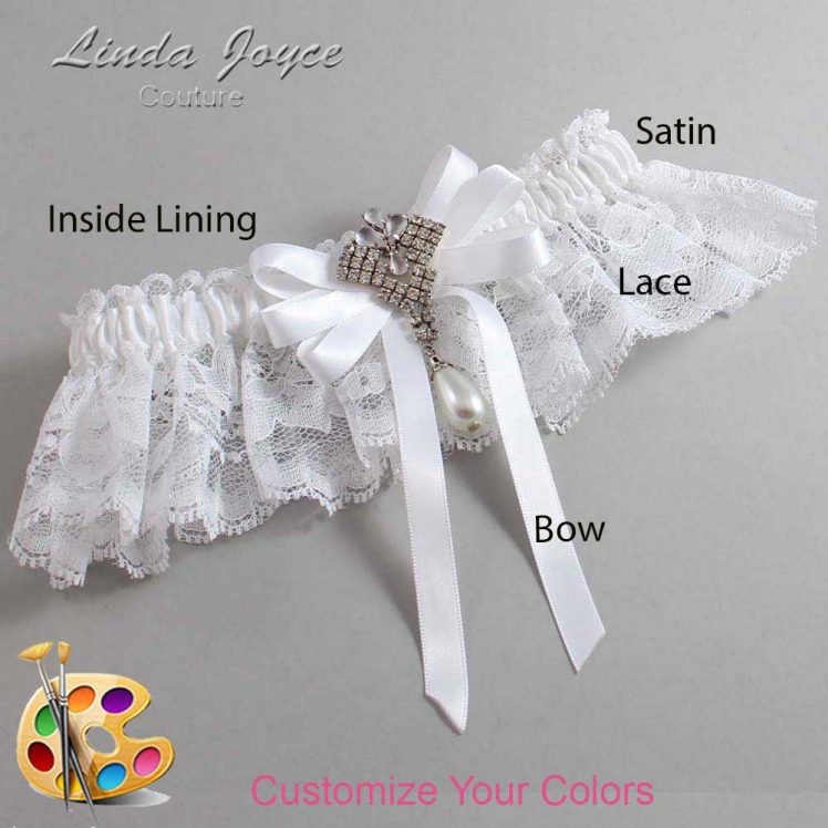 Couture Garters / Custom Wedding Garter / Customizable Wedding Garters / Personalized Wedding Garters / Priscilla #10-B12-M33 / Wedding Garters / Bridal Garter / Prom Garter / Linda Joyce Couture