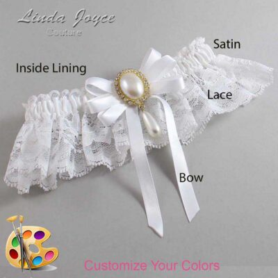 Couture Garters / Custom Wedding Garter / Customizable Wedding Garters / Personalized Wedding Garters / Yvonne #10-B12-M34 / Wedding Garters / Bridal Garter / Prom Garter / Linda Joyce Couture