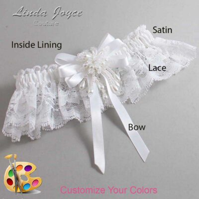 Couture Garters / Custom Wedding Garter / Customizable Wedding Garters / Personalized Wedding Garters / Paula #10-B12-M38 / Wedding Garters / Bridal Garter / Prom Garter / Linda Joyce Couture