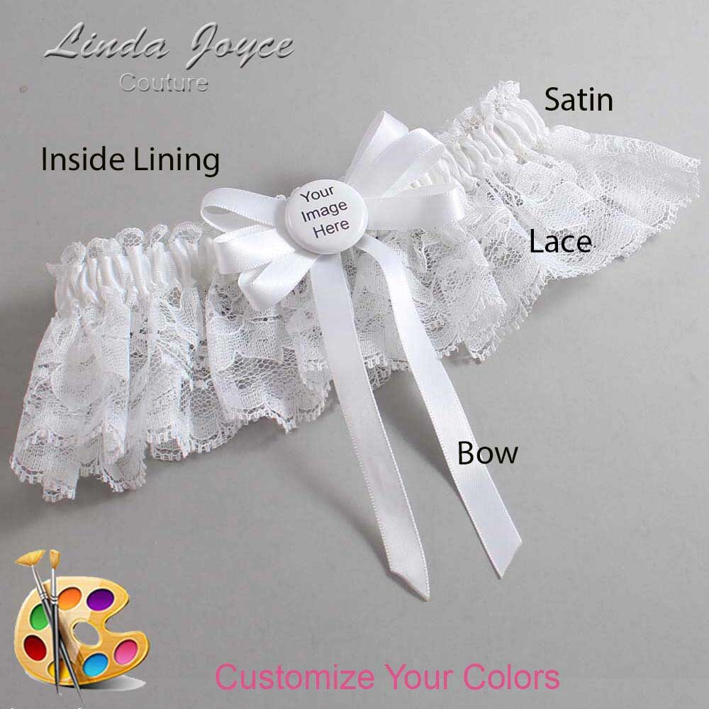 Customizable Wedding Garter / US-Military Custom Button #10-B12-M44