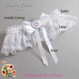 Couture Garters / Custom Wedding Garter / Customizable Wedding Garters / Personalized Wedding Garters / Custom Button #10-B12-M44 / Wedding Garters / Bridal Garter / Prom Garter / Linda Joyce Couture