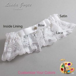 Customizable Wedding Garter / Lana #10-B20-M03-Gold