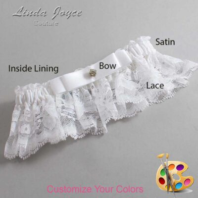 Customizable Wedding Garter / Lana #10-B20-M03-Gold