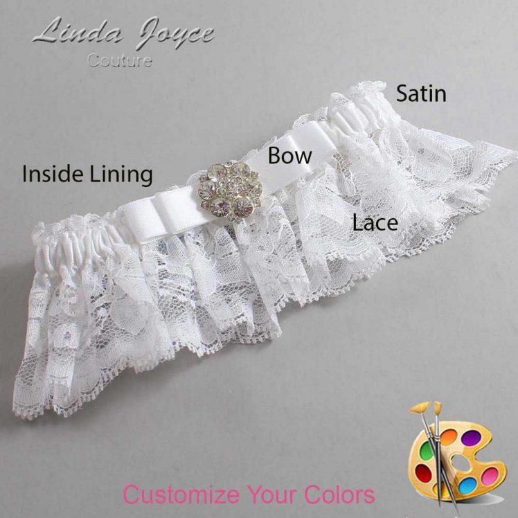 Couture Garters / Custom Wedding Garter / Customizable Wedding Garters / Personalized Wedding Garters / Alexis #10-B20-M11 / Wedding Garters / Bridal Garter / Prom Garter / Linda Joyce Couture