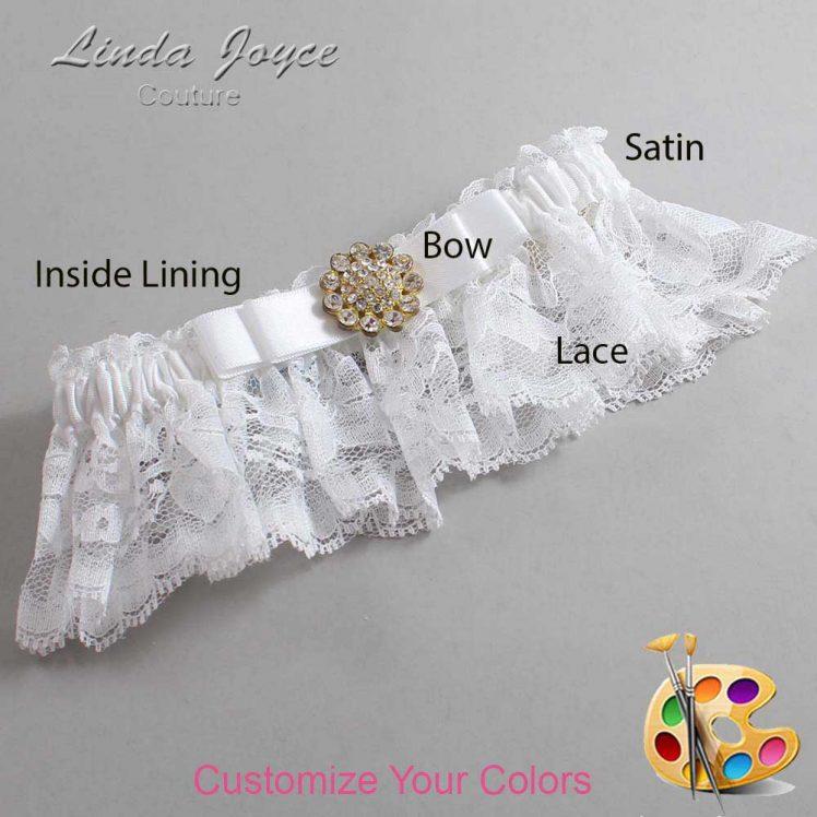Couture Garters / Custom Wedding Garter / Customizable Wedding Garters / Personalized Wedding Garters / Bella #10-B20-M12 / Wedding Garters / Bridal Garter / Prom Garter / Linda Joyce Couture
