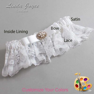 Couture Garters / Custom Wedding Garter / Customizable Wedding Garters / Personalized Wedding Garters / Lily #10-B20-M16 / Wedding Garters / Bridal Garter / Prom Garter / Linda Joyce Couture