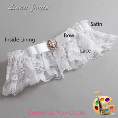 Couture Garters / Custom Wedding Garter / Customizable Wedding Garters / Personalized Wedding Garters / Inga #10-B20-M17 / Wedding Garters / Bridal Garter / Prom Garter / Linda Joyce Couture