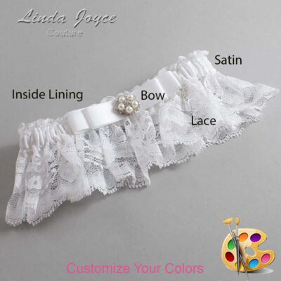 Couture Garters / Custom Wedding Garter / Customizable Wedding Garters / Personalized Wedding Garters / Audrey #10-B20-M20 / Wedding Garters / Bridal Garter / Prom Garter / Linda Joyce Couture