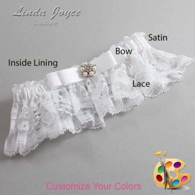 Couture Garters / Custom Wedding Garter / Customizable Wedding Garters / Personalized Wedding Garters / Frances #10-B20-M23 / Wedding Garters / Bridal Garter / Prom Garter / Linda Joyce Couture