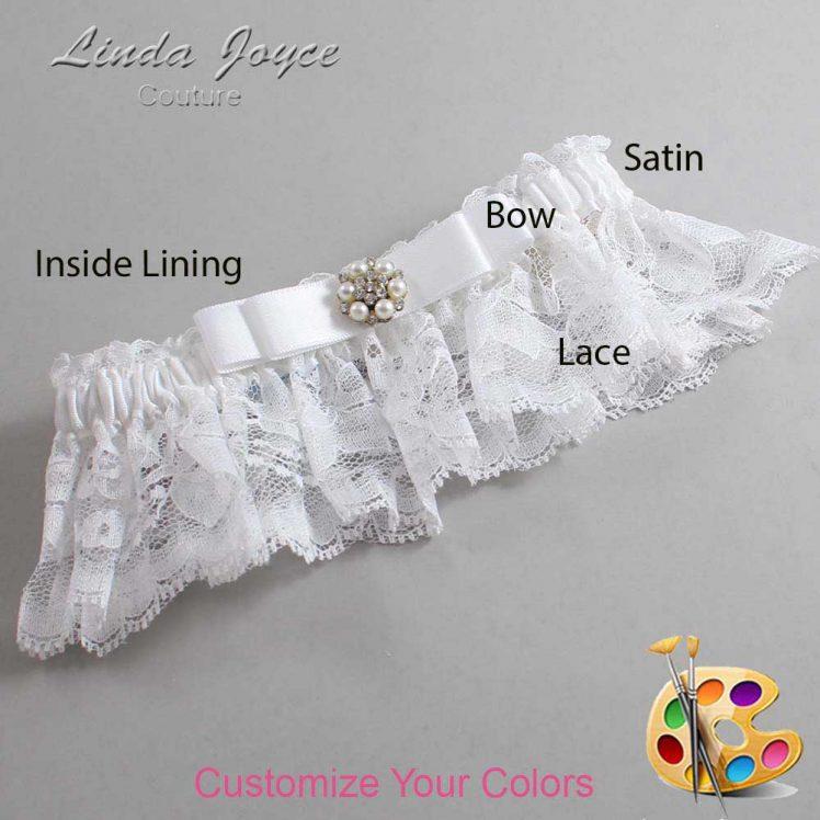 Couture Garters / Custom Wedding Garter / Customizable Wedding Garters / Personalized Wedding Garters / Frances #10-B20-M23 / Wedding Garters / Bridal Garter / Prom Garter / Linda Joyce Couture