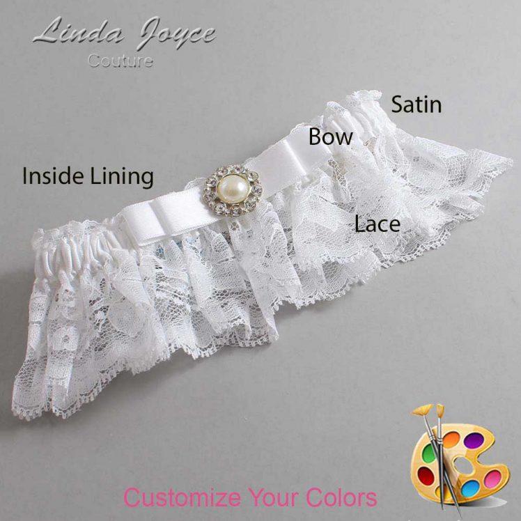 Couture Garters / Custom Wedding Garter / Customizable Wedding Garters / Personalized Wedding Garters / Brianna #10-B20-M24 / Wedding Garters / Bridal Garter / Prom Garter / Linda Joyce Couture