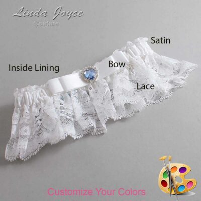 Couture Garters / Custom Wedding Garter / Customizable Wedding Garters / Personalized Wedding Garters / Louann #10-B20-M25 / Wedding Garters / Bridal Garter / Prom Garter / Linda Joyce Couture