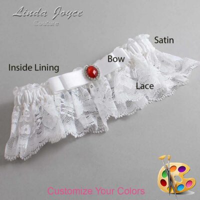 Couture Garters / Custom Wedding Garter / Customizable Wedding Garters / Personalized Wedding Garters / Nadine #10-B20-M26 / Wedding Garters / Bridal Garter / Prom Garter / Linda Joyce Couture