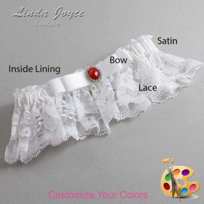Couture Garters / Custom Wedding Garter / Customizable Wedding Garters / Personalized Wedding Garters / Nadine #10-B20-M26 / Wedding Garters / Bridal Garter / Prom Garter / Linda Joyce Couture