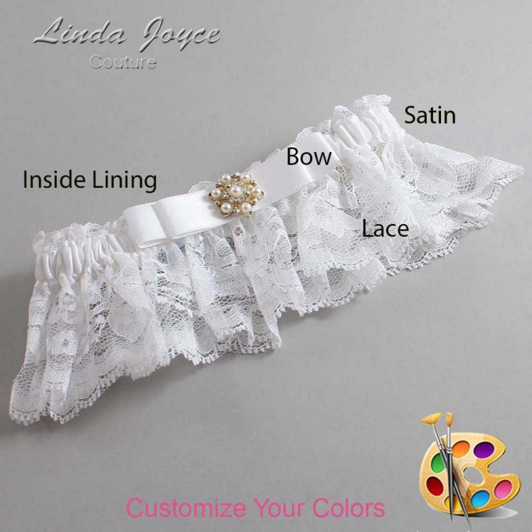 Couture Garters / Custom Wedding Garter / Customizable Wedding Garters / Personalized Wedding Garters / Becky #10-B20-M27 / Wedding Garters / Bridal Garter / Prom Garter / Linda Joyce Couture