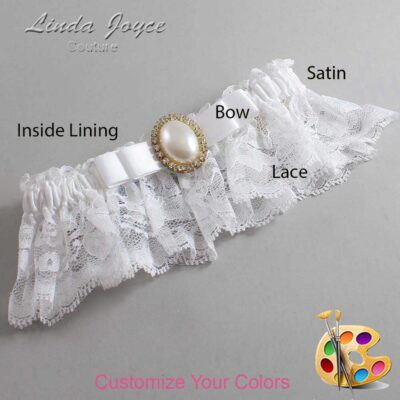 Customizable Wedding Garter / Molly #10-B20-M29-Gold