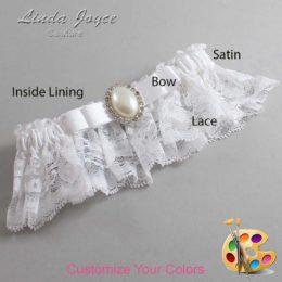 Customizable Wedding Garter / Molly #10-B20-M31-Silver
