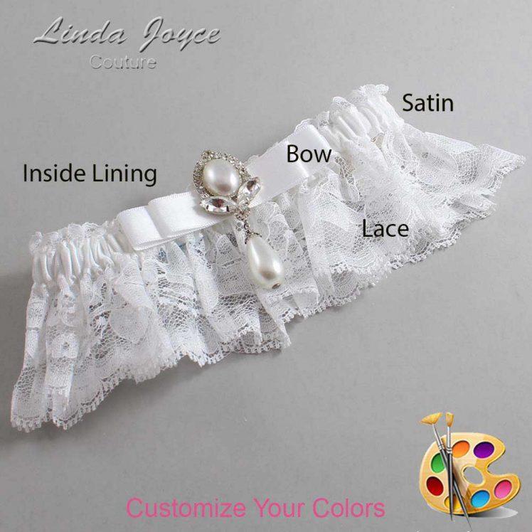 Couture Garters / Custom Wedding Garter / Customizable Wedding Garters / Personalized Wedding Garters / Joyce #10-B20-M32 / Wedding Garters / Bridal Garter / Prom Garter / Linda Joyce Couture