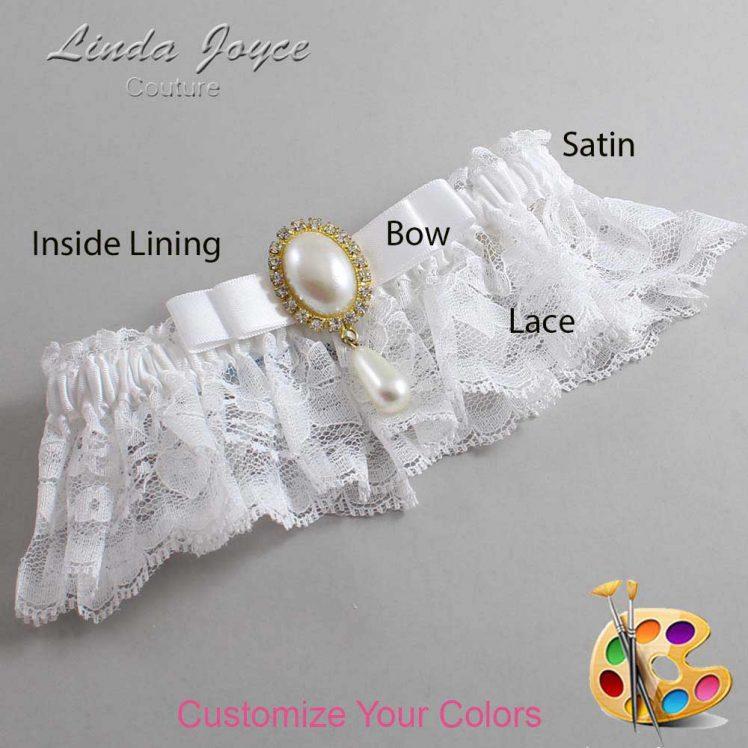 Couture Garters / Custom Wedding Garter / Customizable Wedding Garters / Personalized Wedding Garters / Myra #10-B20-M34 / Wedding Garters / Bridal Garter / Prom Garter / Linda Joyce Couture