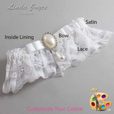 Couture Garters / Custom Wedding Garter / Customizable Wedding Garters / Personalized Wedding Garters / Myra #10-B20-M35 / Wedding Garters / Bridal Garter / Prom Garter / Linda Joyce Couture