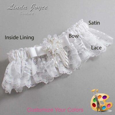 Couture Garters / Custom Wedding Garter / Customizable Wedding Garters / Personalized Wedding Garters / Regina #10-B20-M38 / Wedding Garters / Bridal Garter / Prom Garter / Linda Joyce Couture