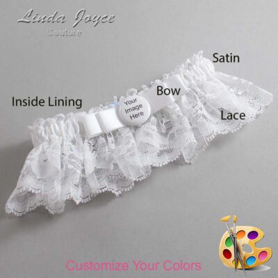 Customizable Wedding Garter / US-Military Custom Button #10-B20-M44