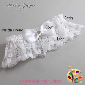 Couture Garters / Custom Wedding Garter / Customizable Wedding Garters / Personalized Wedding Garters / Jodi #10-B29-M03 / Wedding Garters / Bridal Garter / Prom Garter / Linda Joyce Couture