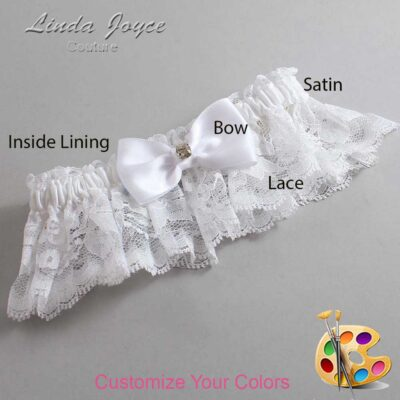 Customizable Wedding Garter / Jodi #10-B29-M03-Gold