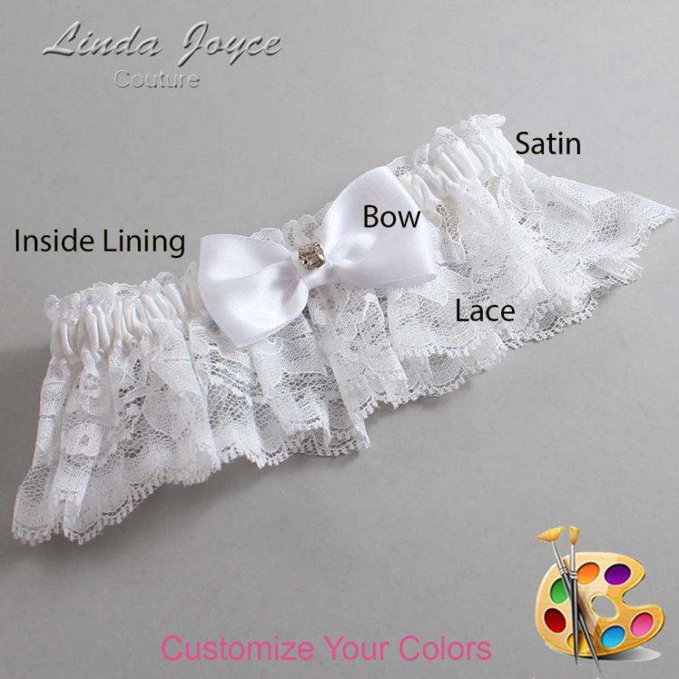 Couture Garters / Custom Wedding Garter / Customizable Wedding Garters / Personalized Wedding Garters / Jodi #10-B29-M03 / Wedding Garters / Bridal Garter / Prom Garter / Linda Joyce Couture