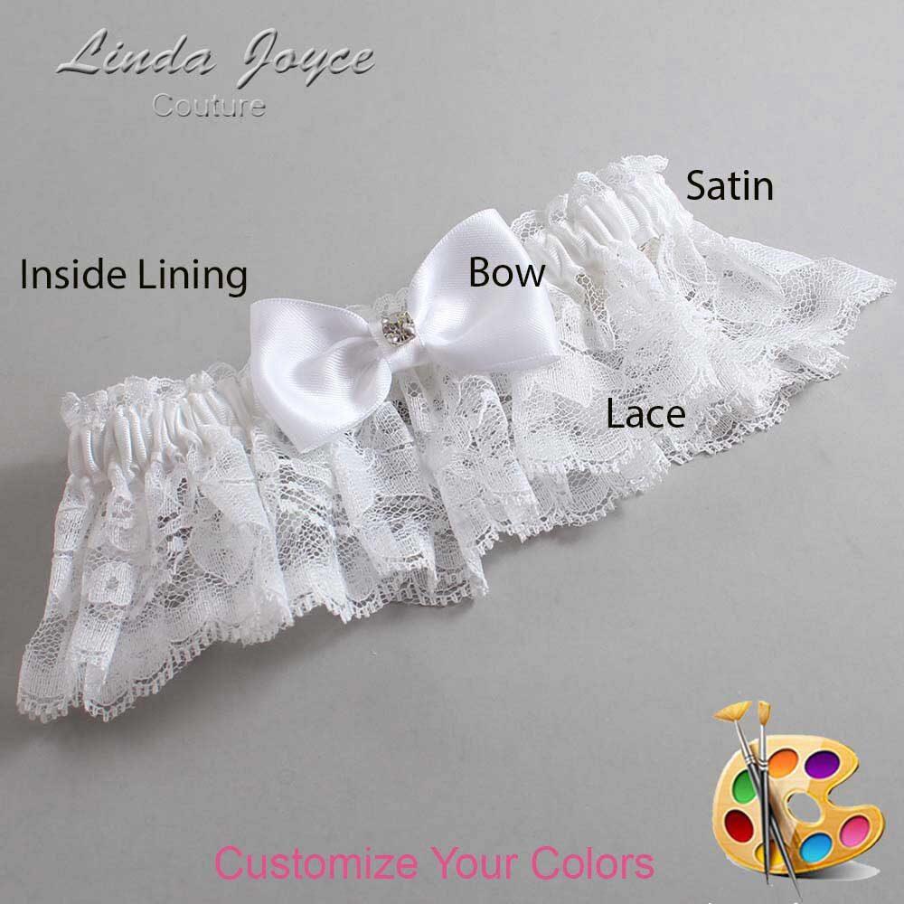 Customizable Wedding Garter / Jodi #10-B29-M04-Silver