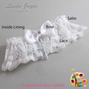 Couture Garters / Custom Wedding Garter / Customizable Wedding Garters / Personalized Wedding Garters / Jodi #10-B29-M04 / Wedding Garters / Bridal Garter / Prom Garter / Linda Joyce Couture