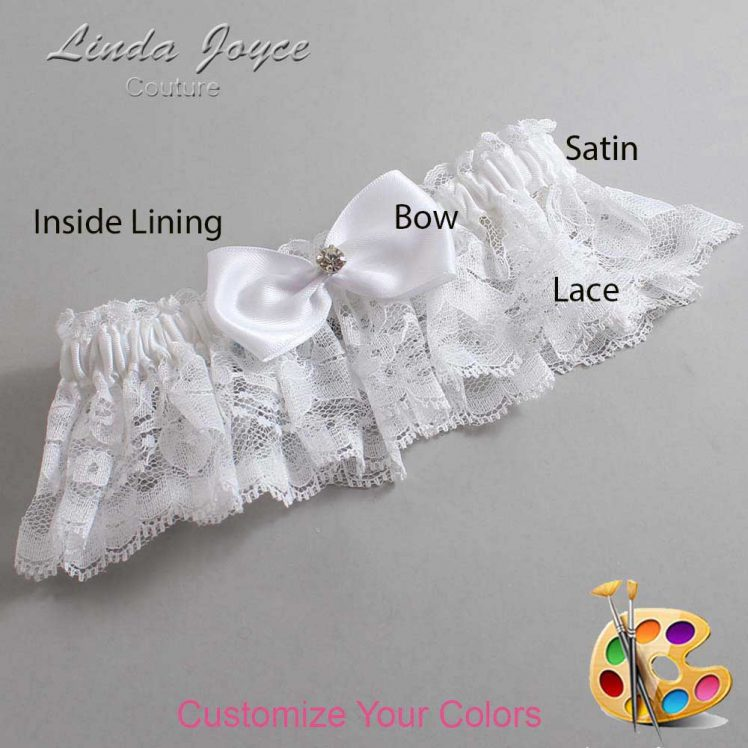 Couture Garters / Custom Wedding Garter / Customizable Wedding Garters / Personalized Wedding Garters / Melody #10-B31-M04 / Wedding Garters / Bridal Garter / Prom Garter / Linda Joyce Couture