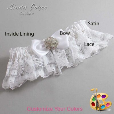 Couture Garters / Custom Wedding Garter / Customizable Wedding Garters / Personalized Wedding Garters / Michelle #10-B31-M11 / Wedding Garters / Bridal Garter / Prom Garter / Linda Joyce Couture