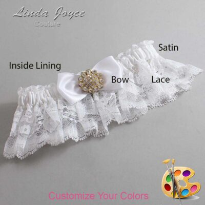 Couture Garters / Custom Wedding Garter / Customizable Wedding Garters / Personalized Wedding Garters / Loretta #10-B31-M12 / Wedding Garters / Bridal Garter / Prom Garter / Linda Joyce Couture