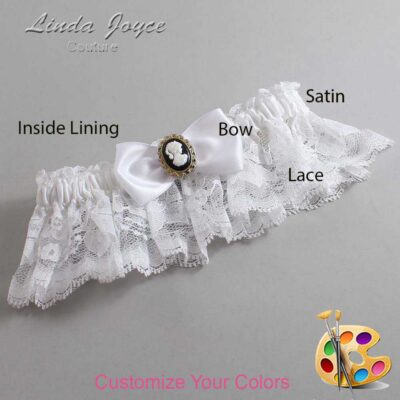 Couture Garters / Custom Wedding Garter / Customizable Wedding Garters / Personalized Wedding Garters / Krista #10-B31-M15 / Wedding Garters / Bridal Garter / Prom Garter / Linda Joyce Couture