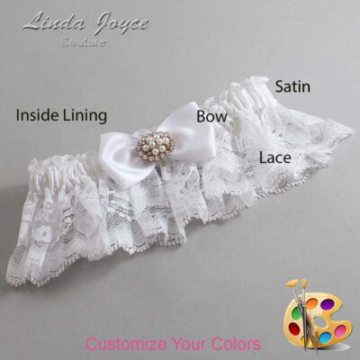 Couture Garters / Custom Wedding Garter / Customizable Wedding Garters / Personalized Wedding Garters / Kathy #10-B31-M16 / Wedding Garters / Bridal Garter / Prom Garter / Linda Joyce Couture