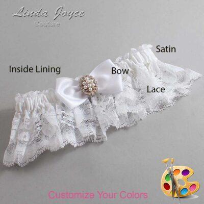 Couture Garters / Custom Wedding Garter / Customizable Wedding Garters / Personalized Wedding Garters / Lona #10-B31-M17 / Wedding Garters / Bridal Garter / Prom Garter / Linda Joyce Couture