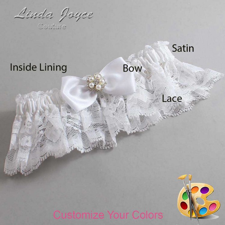 Couture Garters / Custom Wedding Garter / Customizable Wedding Garters / Personalized Wedding Garters / Laureen #10-B31-M20 / Wedding Garters / Bridal Garter / Prom Garter / Linda Joyce Couture