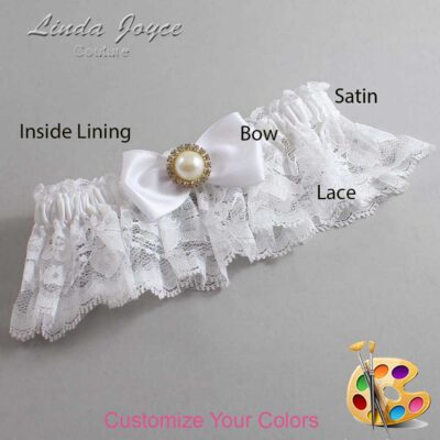 Couture Garters / Custom Wedding Garter / Customizable Wedding Garters / Personalized Wedding Garters / Kendra #10-B31-M21 / Wedding Garters / Bridal Garter / Prom Garter / Linda Joyce Couture