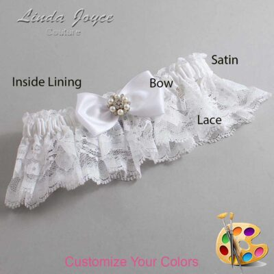 Couture Garters / Custom Wedding Garter / Customizable Wedding Garters / Personalized Wedding Garters / Julie #10-B31-M23 / Wedding Garters / Bridal Garter / Prom Garter / Linda Joyce Couture