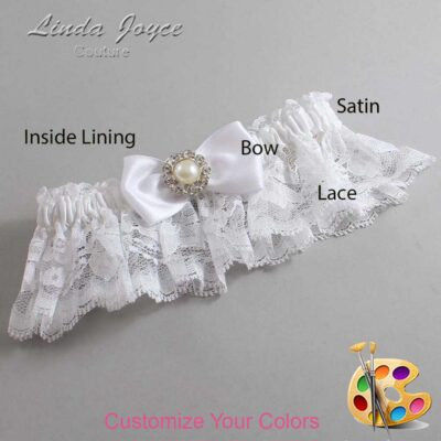 Couture Garters / Custom Wedding Garter / Customizable Wedding Garters / Personalized Wedding Garters / Louise #10-B31-M24 / Wedding Garters / Bridal Garter / Prom Garter / Linda Joyce Couture
