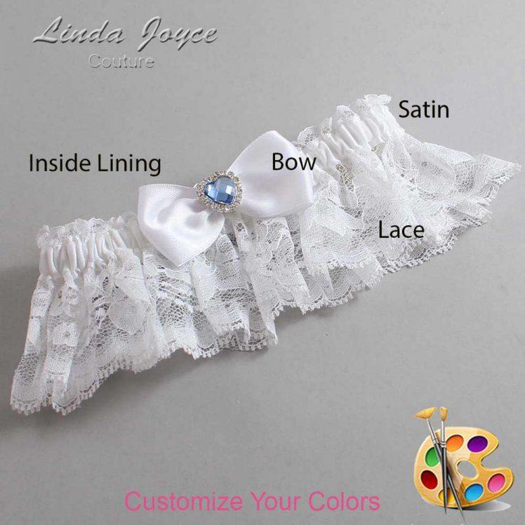 Couture Garters / Custom Wedding Garter / Customizable Wedding Garters / Personalized Wedding Garters / Judy #10-B31-M25 / Wedding Garters / Bridal Garter / Prom Garter / Linda Joyce Couture