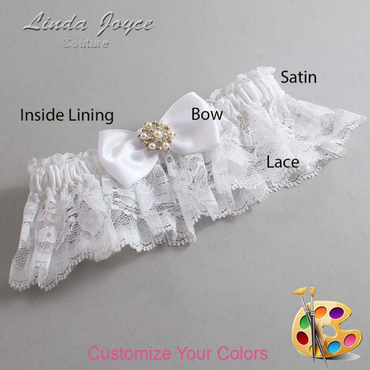Couture Garters / Custom Wedding Garter / Customizable Wedding Garters / Personalized Wedding Garters / Melissa #10-B31-M27 / Wedding Garters / Bridal Garter / Prom Garter / Linda Joyce Couture