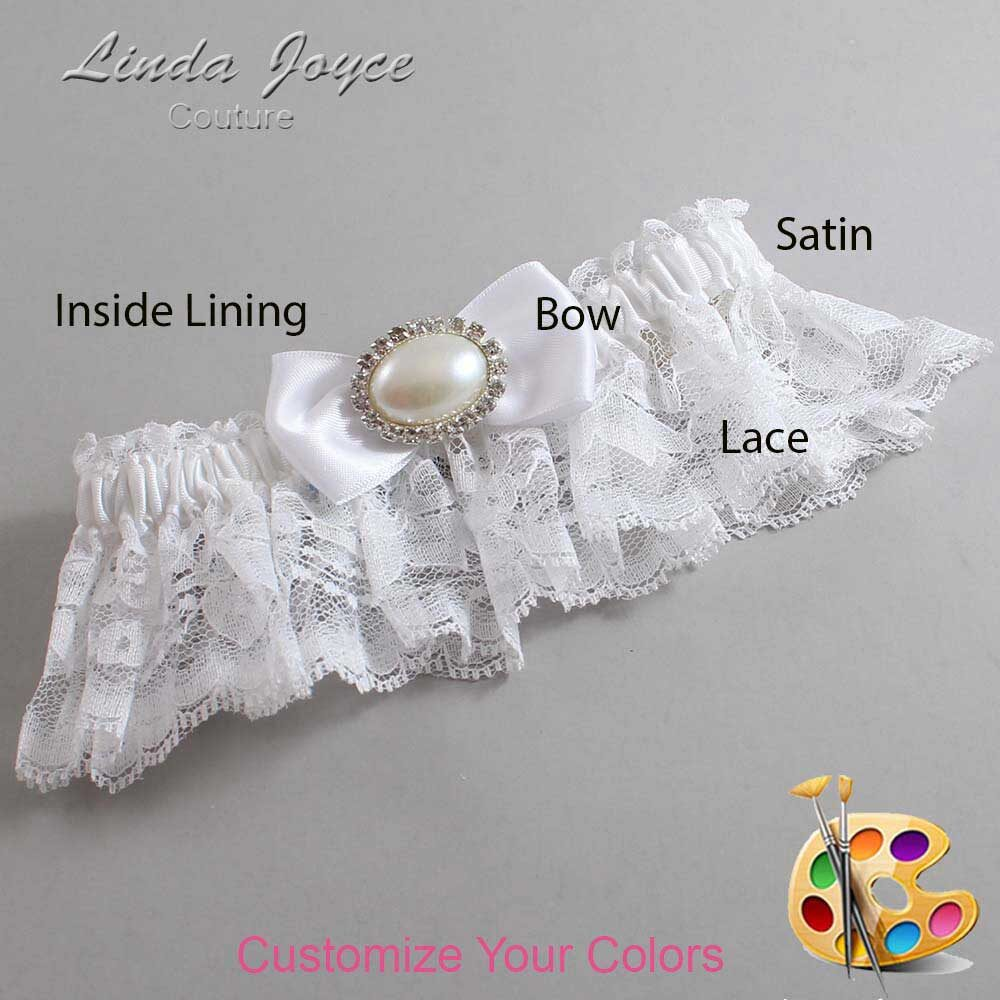 Customizable Wedding Garter / Juliette #10-B31-M30-Silver