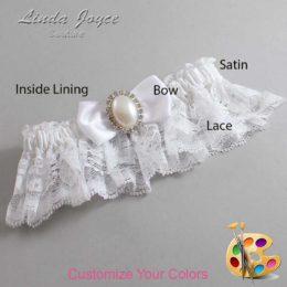 Customizable Wedding Garter / Mindy #10-B31-M31-Silver