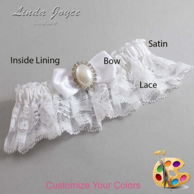 Couture Garters / Custom Wedding Garter / Customizable Wedding Garters / Personalized Wedding Garters / Mindy #10-B31-M31 / Wedding Garters / Bridal Garter / Prom Garter / Linda Joyce Couture